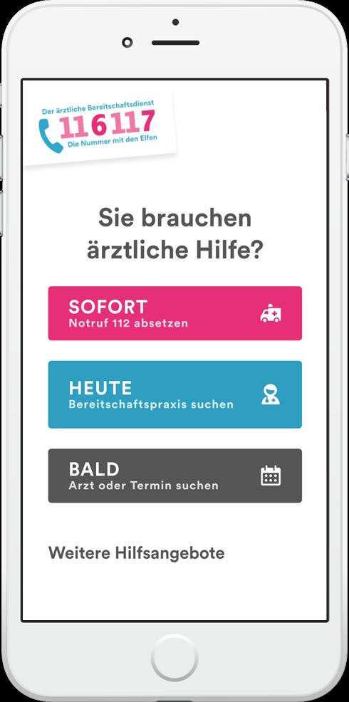 Ansicht der App auf dem Smartphone